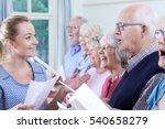 group of seniors with teacher... | Shutterstock . vector #540658279