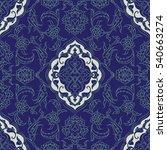 turkish iznik tile  vector and... | Shutterstock .eps vector #540663274