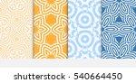 floral ornament. set of... | Shutterstock .eps vector #540664450