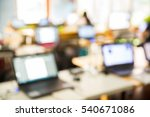 abstract blur people lecture in ...   Shutterstock . vector #540671086