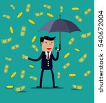 businessman hold umbrella and... | Shutterstock .eps vector #540672004