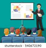 businessman making presentation ... | Shutterstock .eps vector #540672190