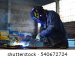 welders working at the factory... | Shutterstock . vector #540672724