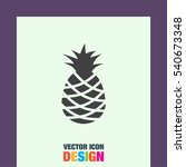 pineapple vector icon. tropical ... | Shutterstock .eps vector #540673348