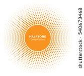 sunny circle halftone icon... | Shutterstock . vector #540673468