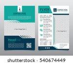 flyers design template vector.... | Shutterstock .eps vector #540674449