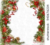 christmas background with... | Shutterstock . vector #540676234