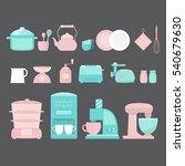 illustration of home appliances ...   Shutterstock .eps vector #540679630
