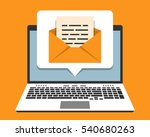 laptop and email notification... | Shutterstock .eps vector #540680263
