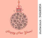 happy new year background.... | Shutterstock .eps vector #540680854