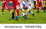 football soccer kick. soccer... | Shutterstock . vector #540681586