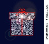 gift box made of snowflakes... | Shutterstock .eps vector #540682228