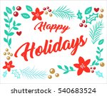 vector image happy holidays | Shutterstock .eps vector #540683524