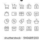 shopping pixel perfect well... | Shutterstock .eps vector #540689203