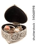 open silver jewelry box