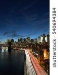 Night View Of Lower Manhattan...