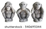 three monkey isolated on white... | Shutterstock . vector #540695344