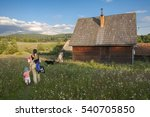 the young family is going to...   Shutterstock . vector #540705850