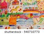 a lot of bright children's... | Shutterstock . vector #540710773