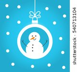 christmas snowman winter bauble ... | Shutterstock .eps vector #540713104