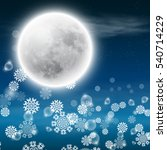 winter night landscape with... | Shutterstock .eps vector #540714229