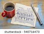 annual review word cloud  ... | Shutterstock . vector #540716473