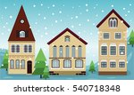 house houses buildings old... | Shutterstock .eps vector #540718348