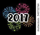 new year 2017greeting card  ... | Shutterstock .eps vector #540722764