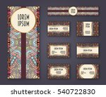 business cards  invitations and ... | Shutterstock .eps vector #540722830