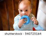 little boy playing with a toy... | Shutterstock . vector #540725164