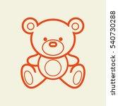 vector set of bear icon. black... | Shutterstock .eps vector #540730288