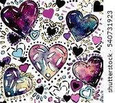 seamless pattern of watercolor... | Shutterstock . vector #540731923