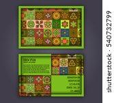 vector business card design... | Shutterstock .eps vector #540732799