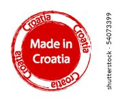 made in croatia label   Shutterstock .eps vector #54073399
