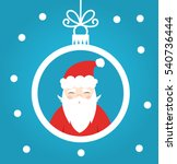 santa claus ball christmas... | Shutterstock .eps vector #540736444