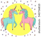 cute vector unicorn couple in...   Shutterstock .eps vector #540736810