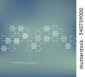 hexagonal molecule. molecular... | Shutterstock .eps vector #540739000