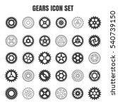 gear icon set. vector... | Shutterstock .eps vector #540739150