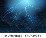 lightning and rain blue... | Shutterstock .eps vector #540739156