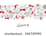 merry christmas and happy new... | Shutterstock . vector #540739990