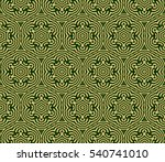 green and gold color seamless... | Shutterstock .eps vector #540741010