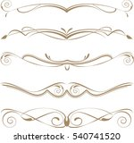 set of decorative calligraphic... | Shutterstock .eps vector #540741520