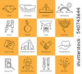 thin line icons set  vector... | Shutterstock .eps vector #540743644