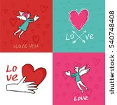 happy valentine's day  love... | Shutterstock .eps vector #540748408