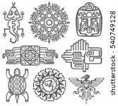 ancient mexican vector... | Shutterstock .eps vector #540749128
