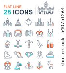 set  line icons in flat design... | Shutterstock . vector #540751264