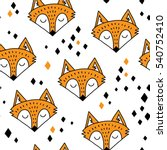 hand drawn seamless pattern... | Shutterstock .eps vector #540752410