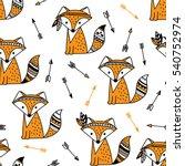hand drawn seamless pattern...   Shutterstock .eps vector #540752974