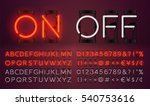 big red neon set glowing... | Shutterstock .eps vector #540753616
