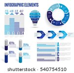 set of business blue... | Shutterstock .eps vector #540754510